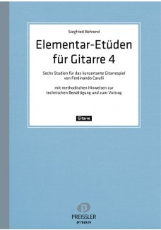 Elementar-Etüden für Gitarre. Band 4