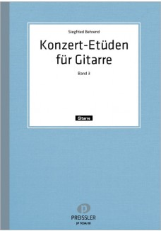 Konzert-Etüden für Gitarre. Bd. 3